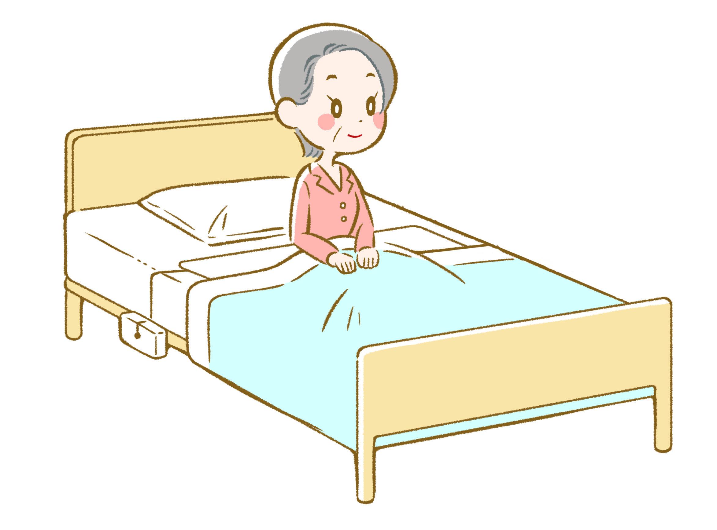 CAREaiの起き上がりセンサーなら、寝返りでの誤検知に悩みません。