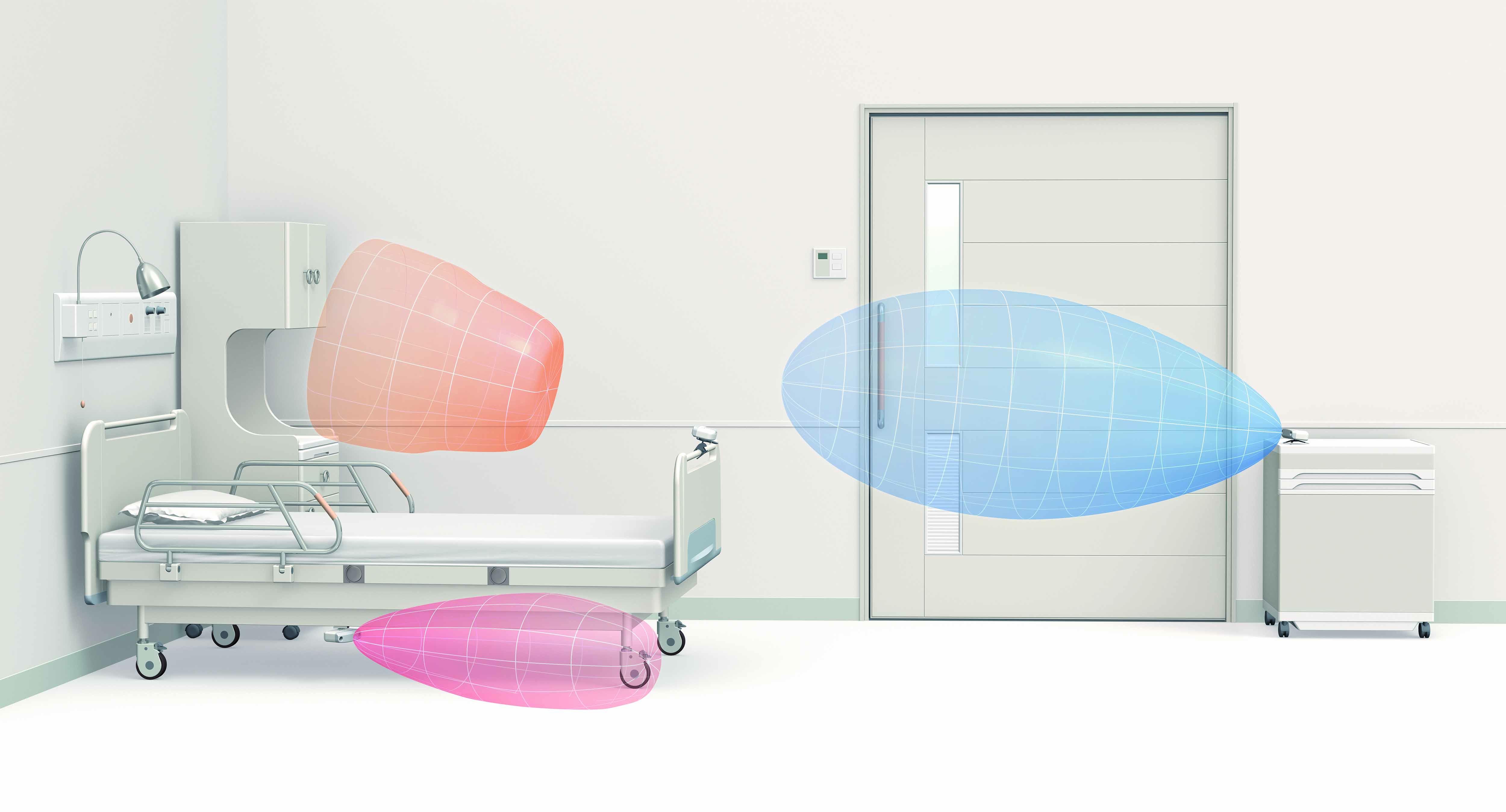 玄関や非常口の見守りに使えます。超音波&ふむふむセンサー。